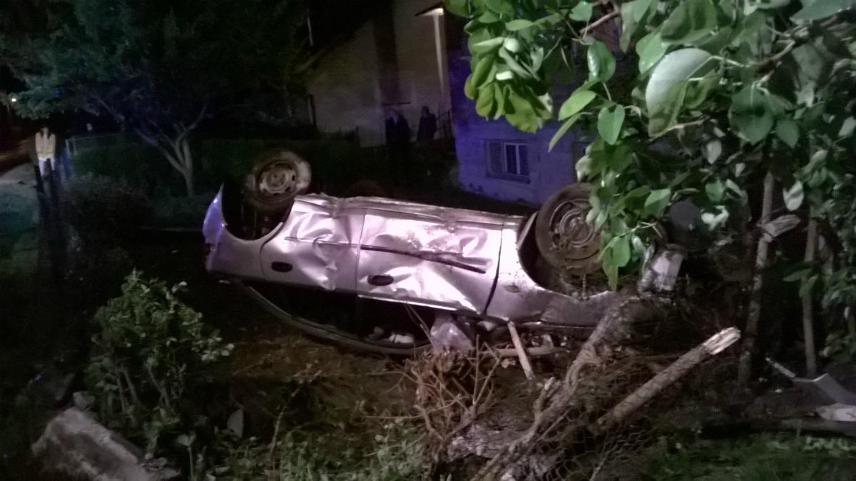 29.04.2016. - Prevrnuće automobila Lug Zabočki